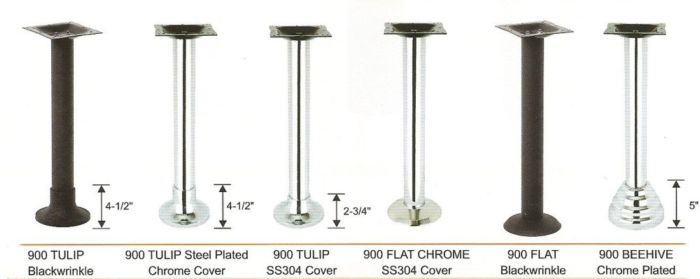 Bolt Down Series Table Base