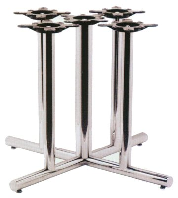 Starline Flat End  Series Chrome Table Base